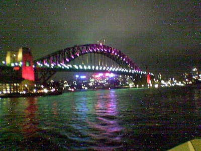 Sydney Harbour Bridge, taken from the Manly Ferry
