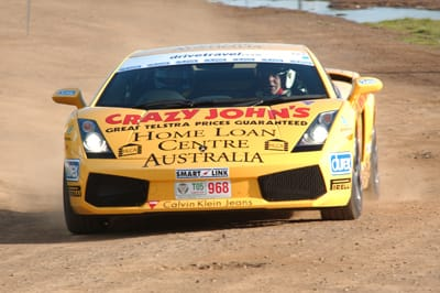 Paul Stokell in his Gallardo