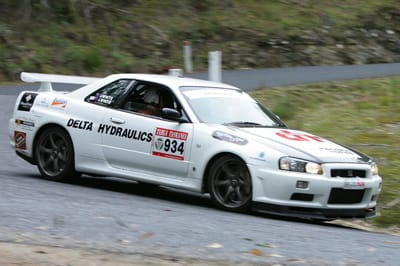 Jason & John White in their Nissan GT-R