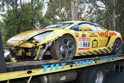 Crashed Gallardo