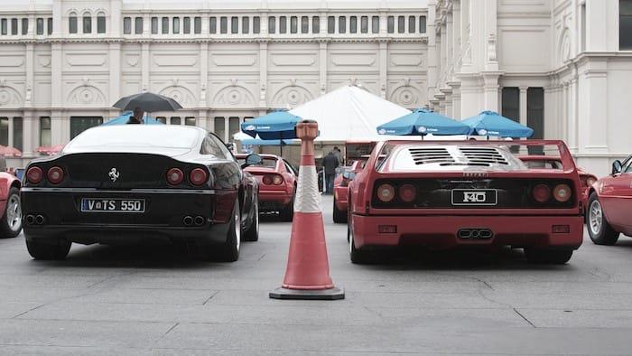 F40 vs 550